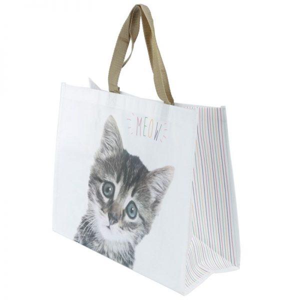 Nákupná taška s mačiatkom a nápisom MEOW 2 - pre milovníkov mačiek