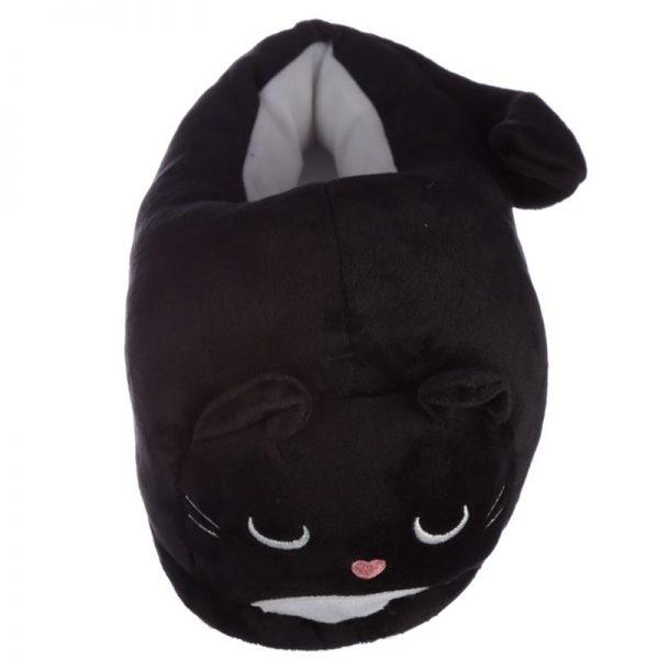 Čierne mačacie papuče Feline Fine - univerzálna veľkosť 2 - pre milovníkov mačiek