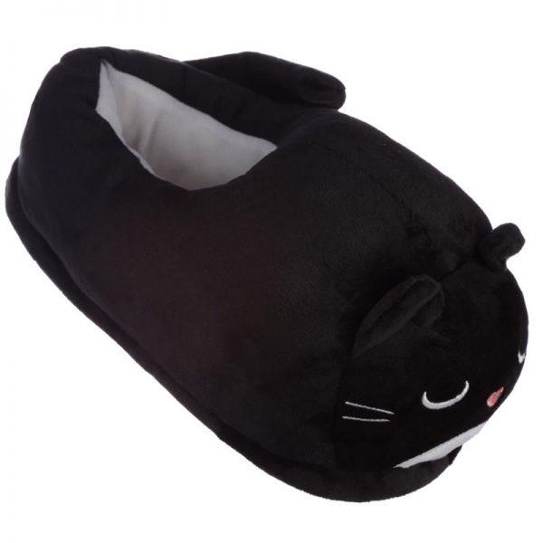 Čierne mačacie papuče Feline Fine - univerzálna veľkosť 3 - pre milovníkov mačiek
