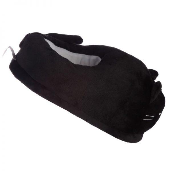 Čierne mačacie papuče Feline Fine - univerzálna veľkosť 5 - pre milovníkov mačiek