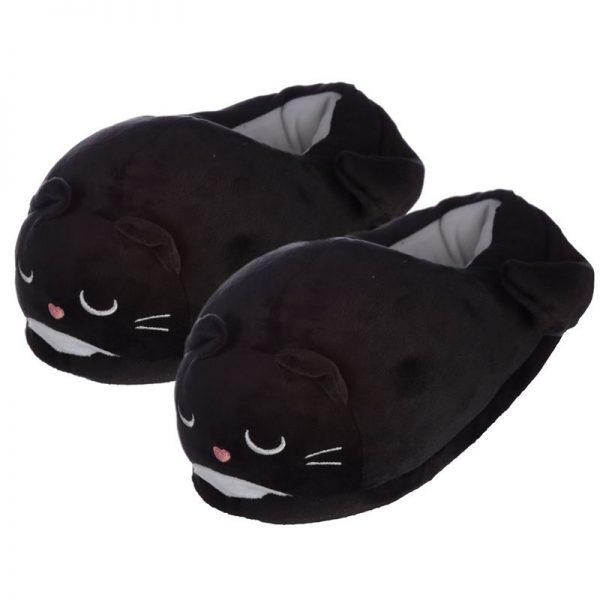 Čierne mačacie papuče Feline Fine - univerzálna veľkosť