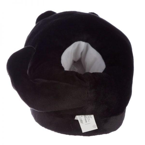 Čierne mačacie papuče Feline Fine - univerzálna veľkosť 8 - pre milovníkov mačiek