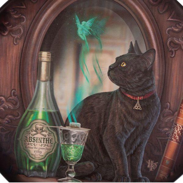 Veľký lapač snov Lisa Parker Absinthe - 60 cm 2 - pre milovníkov mačiek