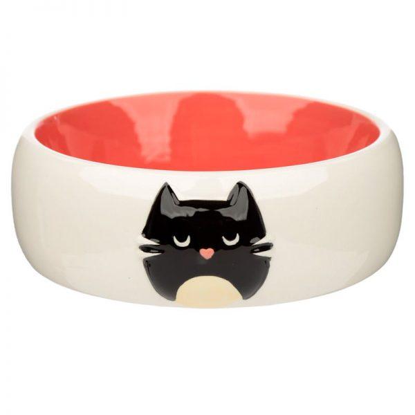 Keramická miska pre mačky na jedlo Feline Fine