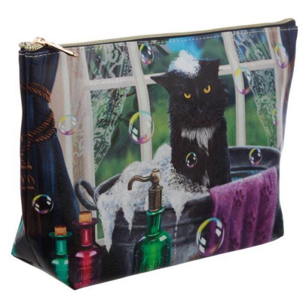 Veľká toaletná taštička z PVC mačačí kúpeľ Lisa Parker 2 - pre milovníkov mačiek
