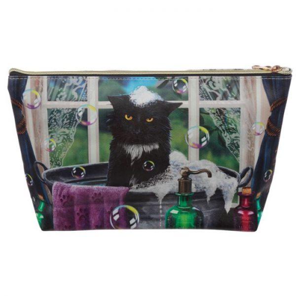 Veľká toaletná taštička z PVC mačačí kúpeľ Lisa Parker 3 - pre milovníkov mačiek