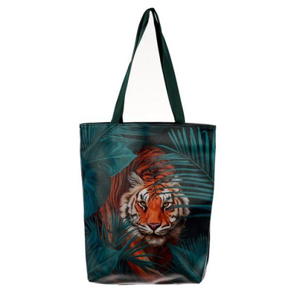 Nákupná taška s motivom veľkej mačičky s pruhmi 1 - pre milovníkov mačiek