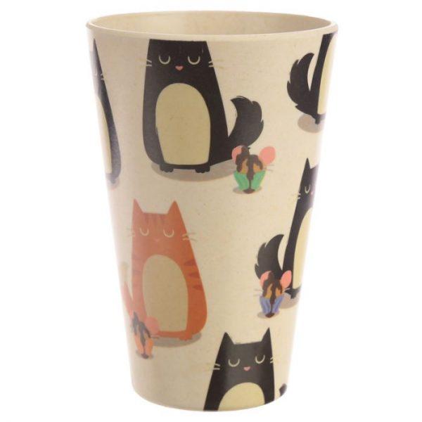 Bambusový Feline Fine znovupoužiteľný termohrnček s mačkou 5 - pre milovníkov mačiek