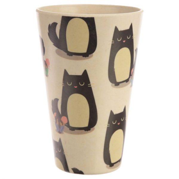 Bambusový Feline Fine znovupoužiteľný termohrnček s mačkou 6 - pre milovníkov mačiek