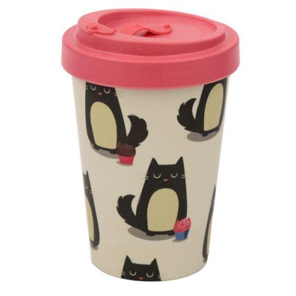 Mačka Feline Fine Cestovný termohrnček z bambusového kompozitu 1 - pre milovníkov mačiek