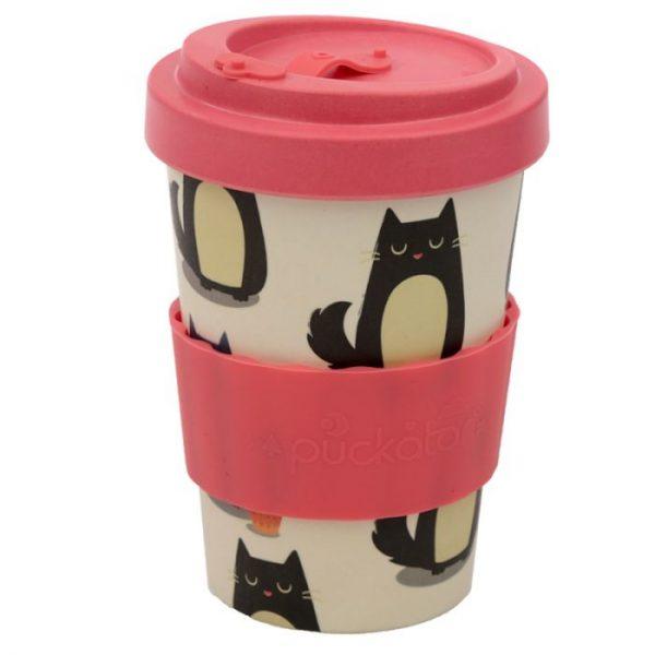 Mačka Feline Fine Cestovný termohrnček z bambusového kompozitu 5 - pre milovníkov mačiek