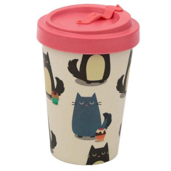 Mačka Feline Fine Cestovný termohrnček z bambusového kompozitu 7 - pre milovníkov mačiek