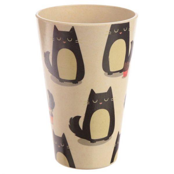 Mačka Feline Fine Cestovný termohrnček z bambusového kompozitu 2 - pre milovníkov mačiek