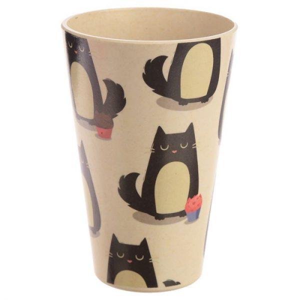 Mačka Feline Fine Cestovný termohrnček z bambusového kompozitu 6 - pre milovníkov mačiek