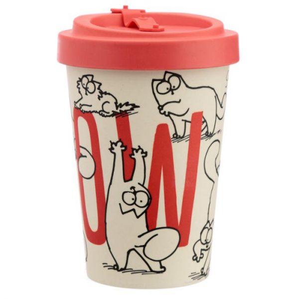 Simon's Cat Cestovné termohrnček z bambusového kompozitu 4 - pre milovníkov mačiek