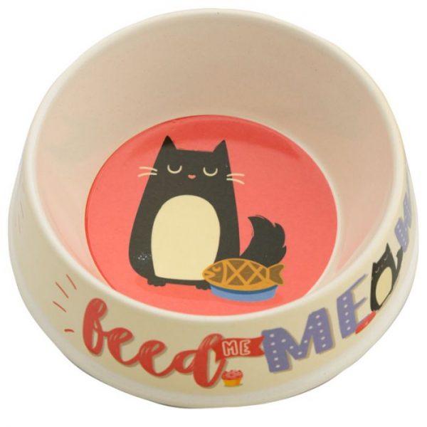 Bambusová Feed Meow Mačka Feline Fine Pet miska na vodu 1 - pre milovníkov mačiek