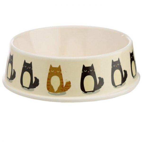 Bambusová Paws Off Mačka Feline Fine miska na jedlo pre mačky 3 - pre milovníkov mačiek