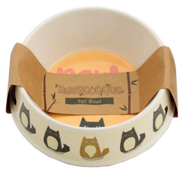 Bambusová Paws Off Mačka Feline Fine miska na jedlo pre mačky 2 - pre milovníkov mačiek