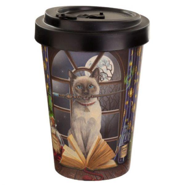 Lisa Parker mačka Hocus Pocus Cestovné termohrnček z bambusového kompozitu 1 - pre milovníkov mačiek