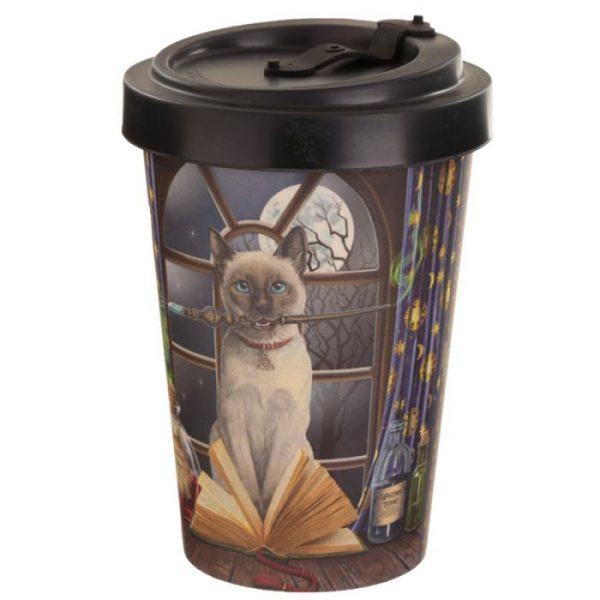 Lisa Parker mačka Hocus Pocus Cestovné termohrnček z bambusového kompozitu 3 - pre milovníkov mačiek