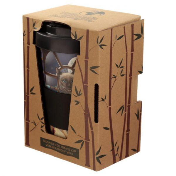Lisa Parker mačka Hocus Pocus Cestovné termohrnček z bambusového kompozitu 5 - pre milovníkov mačiek