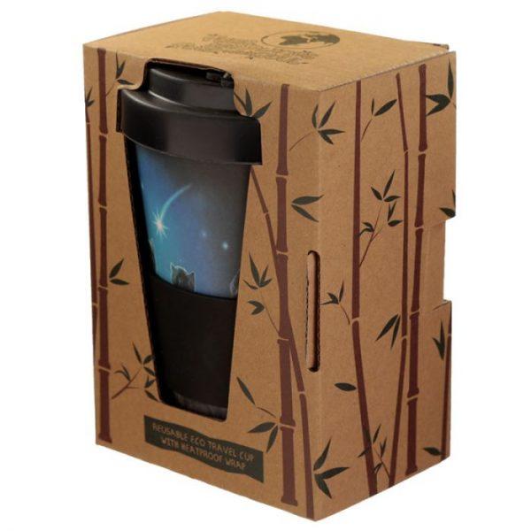 Lisa Parker Wish Upon a Star Cat Cestovný termohrnček z bambusového kompozitu 2 - pre milovníkov mačiek