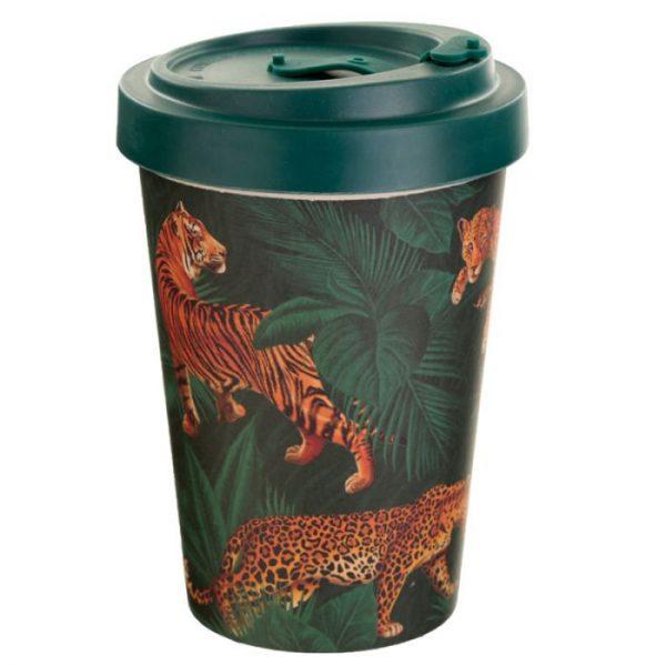 Spots & Stripes Veľká Mačička Cestovný termohrnček z bambusového kompozitu 2 - pre milovníkov mačiek