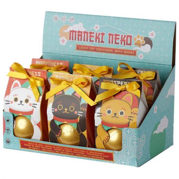 Maneki Neko - mačka šťastie bomba do vody v darčekovom balení 3 - pre milovníkov mačiek