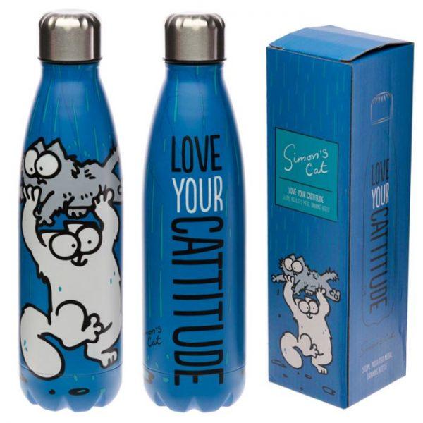 Simon's Cat fľaša z nerezovej ocele na tepelnú izoláciu nápojov 500ml 2 - pre milovníkov mačiek