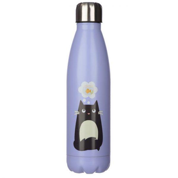 Mačka Feline Fine fľaša z nerezovej ocele na tepelnú izoláciu nápojov 500ml 1 - pre milovníkov mačiek