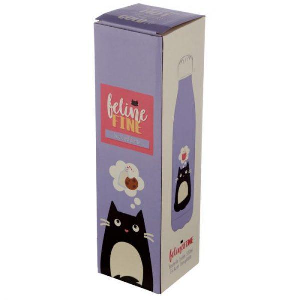 Mačka Feline Fine fľaša z nerezovej ocele na tepelnú izoláciu nápojov 500ml 2 - pre milovníkov mačiek