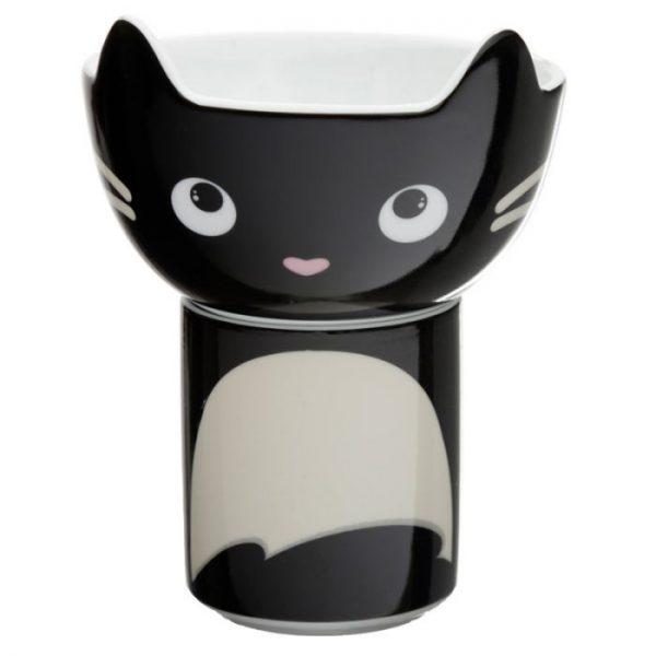 Feline Fine Porcelánový hrnček a miska - set pre deti 1 - pre milovníkov mačiek