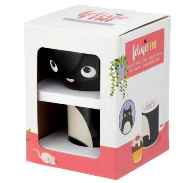 Feline Fine Porcelánový hrnček a miska - set pre deti 4 - pre milovníkov mačiek