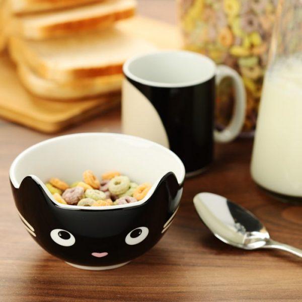 Feline Fine Porcelánový hrnček a miska - set pre deti 2 - pre milovníkov mačiek