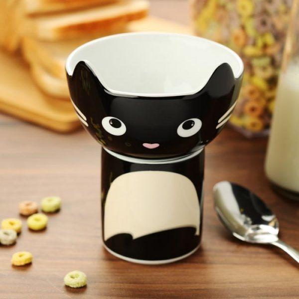 Feline Fine Porcelánový hrnček a miska - set pre deti 5 - pre milovníkov mačiek