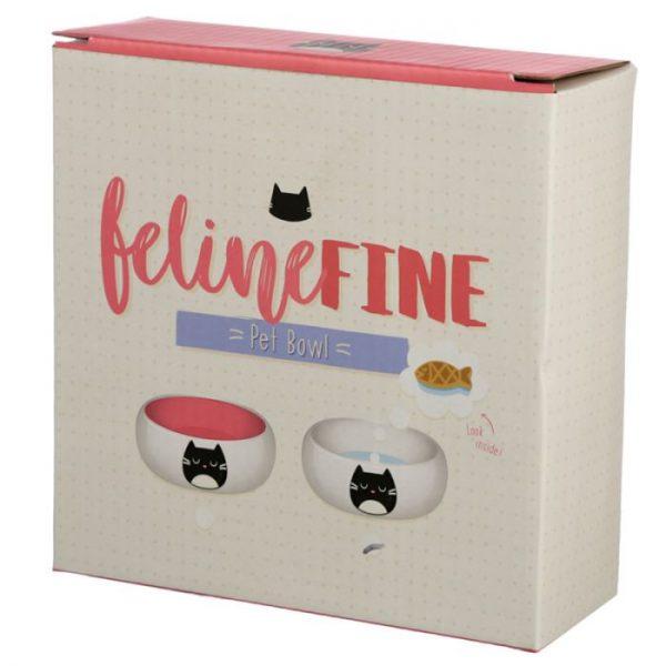 Mačka Feline Fine Ceramic miska na jedlo pre mačky 2 - pre milovníkov mačiek