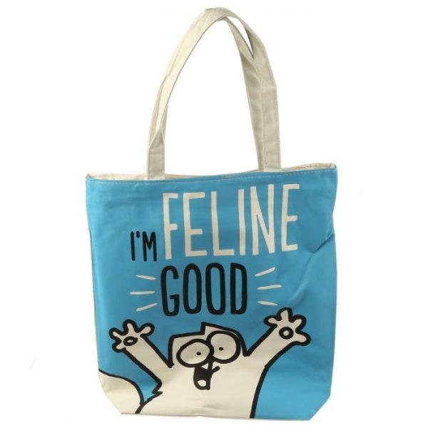 Im Feline Good Simon's Cat znovupoužiteľná bavlnená taška 1 - pre milovníkov mačiek