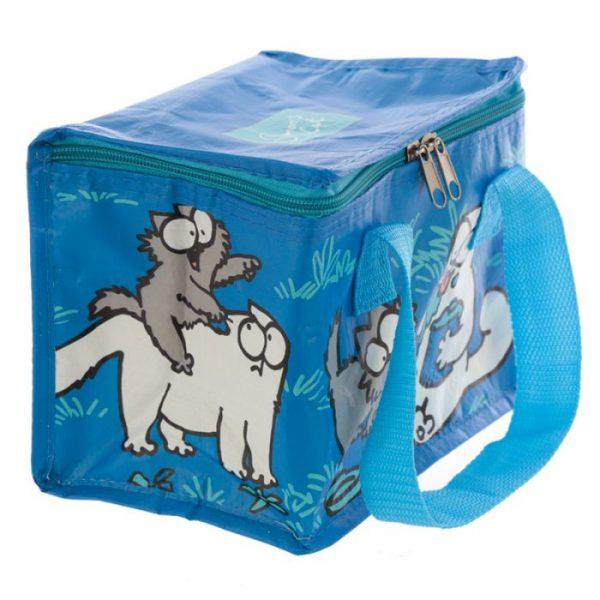 Chladiaca taška na desiatu s motívom mačičky a mačiatka Simon's Cat modrá 5 - pre milovníkov mačiek