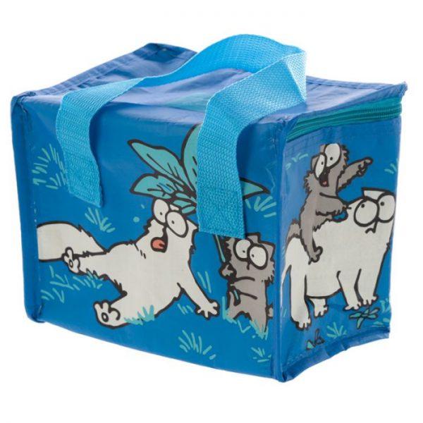 Chladiaca taška na desiatu s motívom mačičky a mačiatka Simon's Cat modrá 4 - pre milovníkov mačiek
