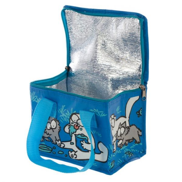 Chladiaca taška na desiatu s motívom mačičky a mačiatka Simon's Cat modrá 3 - pre milovníkov mačiek