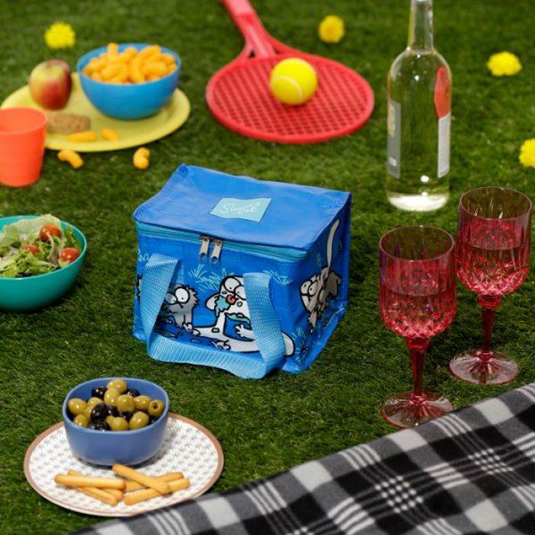 Chladiaca taška na desiatu s motívom mačičky a mačiatka Simon's Cat modrá 8 - pre milovníkov mačiek