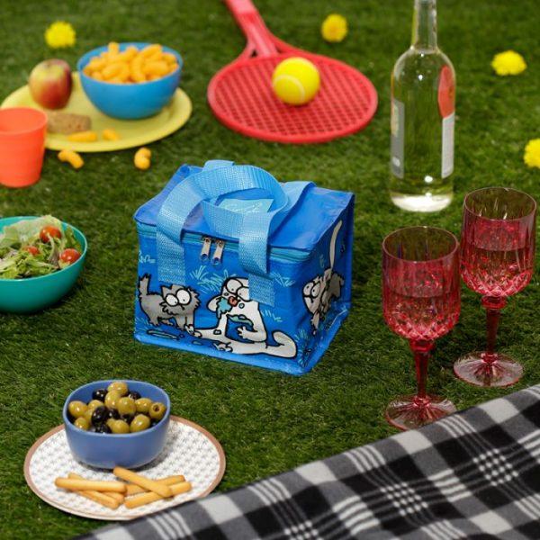 Chladiaca taška na desiatu s motívom mačičky a mačiatka Simon's Cat modrá 7 - pre milovníkov mačiek