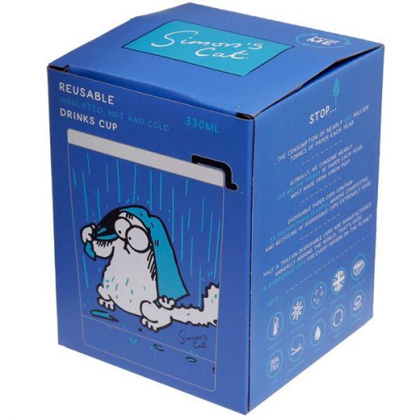 Simon's Cat opakovane použiteľná tepelne izolovaná šálka z nerezovej ocele na teplé aj studené, jedlo aj pitie 300ml 2 - pre milovníkov mačiek