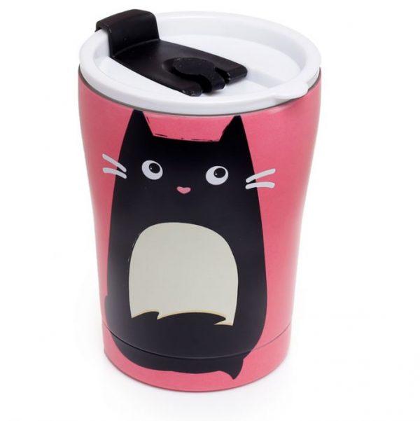 Mačka Feline Fine opakovane použiteľná tepelne izolovaná šálka z nerezovej ocele na teplé aj studené, jedlo aj pitie 300ml 1 - pre milovníkov mačiek