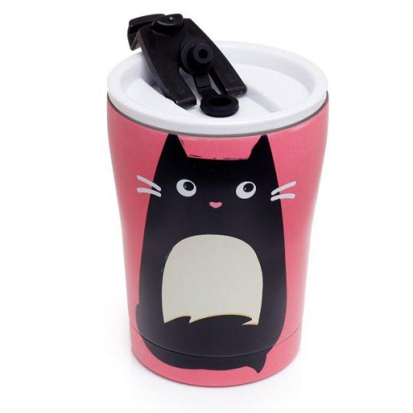 Mačka Feline Fine opakovane použiteľná tepelne izolovaná šálka z nerezovej ocele na teplé aj studené, jedlo aj pitie 300ml 2 - pre milovníkov mačiek