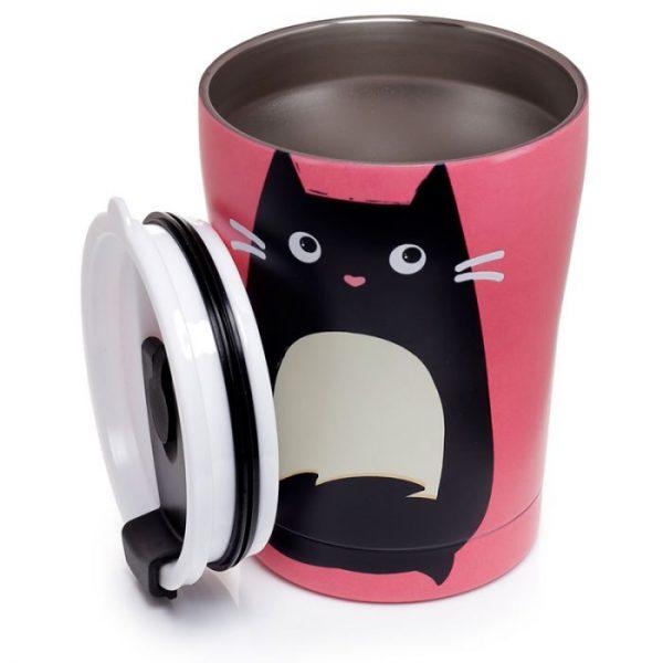 Mačka Feline Fine opakovane použiteľná tepelne izolovaná šálka z nerezovej ocele na teplé aj studené, jedlo aj pitie 300ml 5 - pre milovníkov mačiek