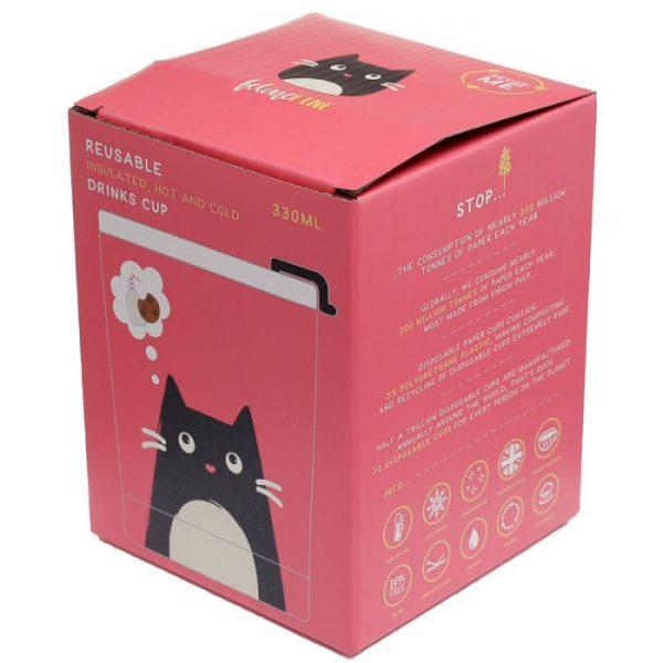 Mačka Feline Fine opakovane použiteľná tepelne izolovaná šálka z nerezovej ocele na teplé aj studené, jedlo aj pitie 300ml 3 - pre milovníkov mačiek