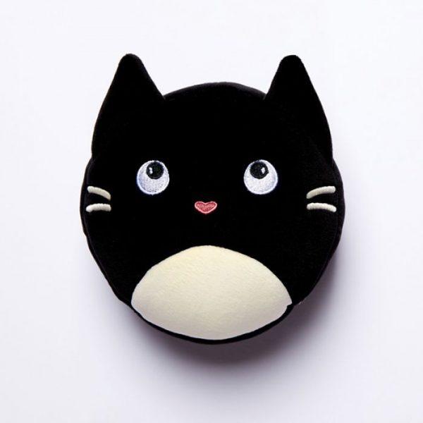 Relaxeazzz Mačka Feline Fine Okrúhly plyšový cestovný vankúš a maska na oči 1 - pre milovníkov mačiek