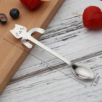 Metal spoon with a cat - blue 6 - pre milovníkov mačiek