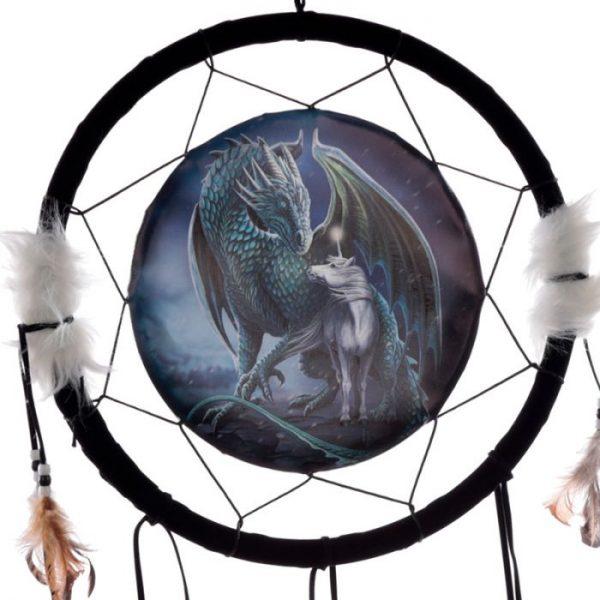 Lisa Parker Protector of Magick Dragon Lapač snov 33cm 2 - pre milovníkov mačiek